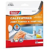 Pose - Finition (joint - Colle - Lambourde - Plot - Profile - Feutre) Joint portes et fenetres - Comble espaces - 6 m x 9 mm x 4 mm - Blanc