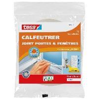 Pose - Finition (joint - Colle - Lambourde - Plot - Profile - Feutre) TESA Joint portes et fenetres - Mousse - 6 m x 9 mm x 6 mm - Blanc