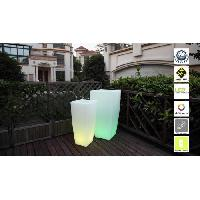 Pot Lumineux Pot lumineux Led sur batterie rechargeable avec telecommande - 32 x 32 x 70 cm