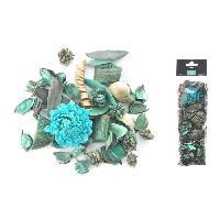 Pot Pourri Pot pourri 140 g - 8x30x5 cm - Parfum pinede - Bleu lagon