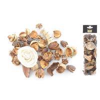 Pot Pourri Pot pourri 140 g - 8x30x5 cm - Parfum vanille - Beige ecru