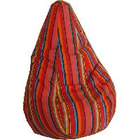 Pouf - Poire Poire BAYA ROUGE O80x120 cm - Toile polyester - Rouge