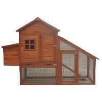 Poulailler POILS et PLUMES Poulailler Coco en bois 4 poules - 172x65x120 cm