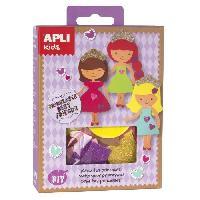 Poupee - Peluche APLI Mini kit crée ta princesse - En mousse EVA