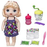 Poupee - Peluche BABY ALIVE - Mange a la cuillere - Poupee Blonde