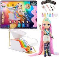 Poupee - Peluche Rainbow High - Coffret Salon de coiffure