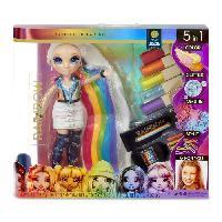 Poupee - Peluche Rainbow High - Salon de beauté et cheveux + poupée Amaya Raine