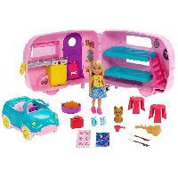 Poupee Barbie - Barbie Chelsea Et Sa Caravane - 3 ans et +