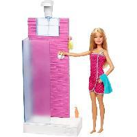 Poupee Barbie - Coffret Salle de Bain avec Poupée - Poupée Mannequin - 3 ans et +