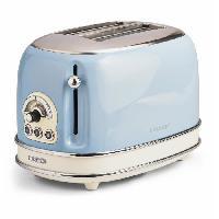 Preparation Culinaire 1553 Grille pain vintage - 2 fentes - 810W - Bleu