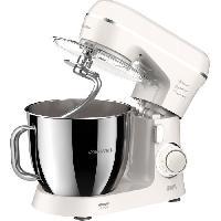 Preparation Culinaire ARTHUR MARTIN AMP1531 - Robot pâtissier 800W - 10 vitesses+pulse - Bol inox 4.25L - Kit pâtisserie inclus - Beige