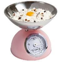 Preparation Culinaire BESTRON DKW700SD Balance de cuisine mécanique - Rose Pastel