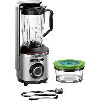 Preparation Culinaire BOSCH-Blender sous vide 2en1 VitaMaxx - 1000W- Pompe sous vide jusqu'a 75 kPA - 6 lames - 37.000 trs/min-3 progr.- Inox/Noir