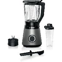 Preparation Culinaire BOSCH Blender VitaPower Revetement metallique - 1200W - 30.000 trs-min - 2 vitesses + turbo - Bol mixeur 2 L - 4 lames amovibles