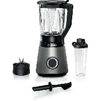 Preparation Culinaire BOSCH Blender VitaPower Revetement métallique - 1200W - 30.000 trs/min - 2 vitesses + turbo - Bol mixeur 2 L - 4 lames amovibles