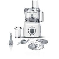 Preparation Culinaire BOSCH MCM3110W - Robot multifonction MultiTalent3 - 800 W -  2 vitesses et turbo - Bol mélangeur 2.3 L - 2 disques - Blanc