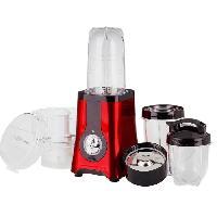 Preparation Culinaire FINECOOK BL316R Mixeur multifonctions - 10 Pieces - Rouge