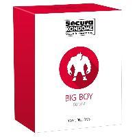 Preservatifs 100 Preservatifs Secura - Big Boy Transparent D60mm 19.5cm