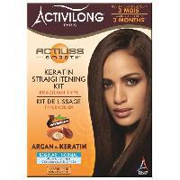 Produit De Defrisage - Produit De Lissage ACTIVILONG Kit de lissage Actiliss Smooth - Type bresilien - Argan et keratine