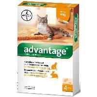 Produit De Soin - Hygiene ADVANTAGE 40 - 4 pipettes antiparasitaires - Pour chat et lapin de moins de 4kg