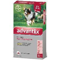 Produit De Soin - Hygiene ADVANTIX 6 pipettes antiparasitaires - Pour chien moyen de 10 a 25kg