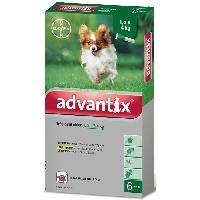 Produit De Soin - Hygiene ADVANTIX 6 pipettes antiparasitaires - Pour tres petit chien de 1.5 a 4kg