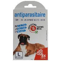 Produit De Soin - Hygiene AGROBIOTHERS 8 sachets de solution anti-puces et anti-tiques - Pour grand chien
