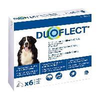 Produit De Soin - Hygiene DUOFLECT Antiparasitaire Duoflect - 6 pipettes - Pour chien de 40 a 60kg