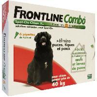 Produit De Soin - Hygiene FRONTLINE 6 pipettes Combo - Pour chien de 40 a 60 kg