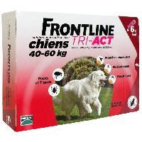 Produit De Soin - Hygiene FRONTLINE 6 pipettes Tri-Act - Pour chien de 40 a 60 kg