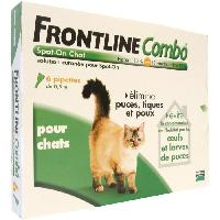 Produit De Soin - Hygiene FRONTLINE Combo chat - Anti-puces et anti-tiques pour chat - 6 pipettes