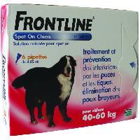 Produit De Soin - Hygiene FRONTLINE Spot On chien 40-60kg - 6 pipettes