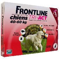 Produit De Soin - Hygiene FRONTLINE TRI-ACT 40-60kg - 3 pipettes