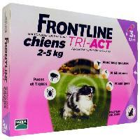 Produit De Soin - Hygiene FRONTLINE TRI-ACT chien - 2-5kg - 3 pipettes
