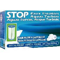 Produit De Traitement De L'eau Pastilles Stop eaux troubles - 102 g - Pour les piscines avec filtre a cartouche