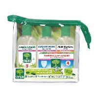 Produit Nettoyage Multi-usage - Entretien Universel Kit produits d'entretien - lessive liquide. Lave-vaisselle mains. nettoyant mutli-surfaces et tablettes lave-vaisselle