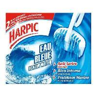 Produit Nettoyage Pour Wc 2 blocs cuvette WC colorant Eau bleue anti-tartre fraicheur marine
