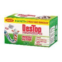 Produit Nettoyage Salle De Bain DESTOP Mousse active javel - 8 Sachets