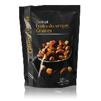 Produits Sales Aperitif CASINO DELICES Mélange Fruits du verger & Graines - 120g
