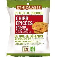 Produits Sales Aperitif Chips de Bananes Plantain epicees Bio - 85 g