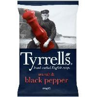 Produits Sales Aperitif Chips sel de mer poivre 0.150 KG Tyrrells Tyrrell's