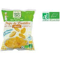 Produits Sales Aperitif JARDIN BIO Chips de lentilles aux petits oignons bio - 50 g