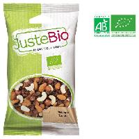 Produits Sales Aperitif LA MAISON DES BISTROS NATURE Melange tonus bio - Noix de cajou. de raisins secs. noisettes et d'amandes - 100 g