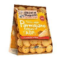 Produits Sales Aperitif MICHEL ET AUGUSTIN Petits salés ronds a la parmesan et graînes de moutarde - 120 g