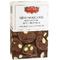 Produits Sales Aperitif Mini Croquants aux Amandes et Olives Noires - 75 g