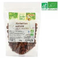 Produits Sales Aperitif Noisettes natures sans sel et non grillees bio - 200 g