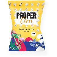 Produits Sales Aperitif PROPERCORN Popcorn Sucre-Sale - 90 g