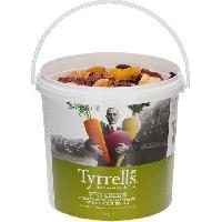 Produits Sales Aperitif TYRRELL'S Chips de legumes Lisses Seau de Betterave. carotte. panais legerement salees au sel de mer - 600 g