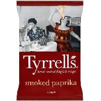 Produits Sales Aperitif TYRRELL'S Chips de pommes de terre Lisses Sachet de Paprika - 150 g