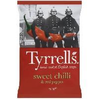 Produits Sales Aperitif TYRRELL'S Chips de pommes de terre Lisses Sachet de Piment doux et paprika - 150 g